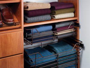 slide out clothes baskets