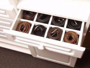 belt drawer with separators