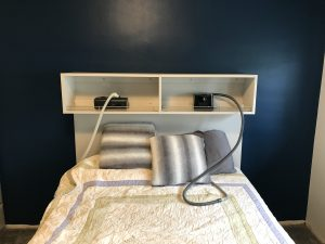 CPAP storage for bedroom