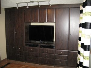 chocolate media wall unit