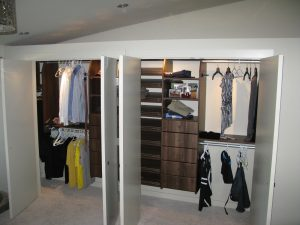 reach in double closet built in