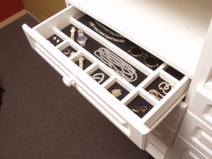 jewelry drawer with separators