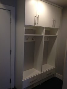 mudroom locker style storage