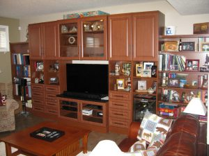 basement tv wall unit storage