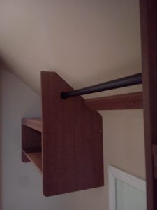 sloped ceiling hanging storage solution