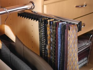 tie rack slide out