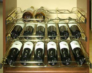 wine rack slide out