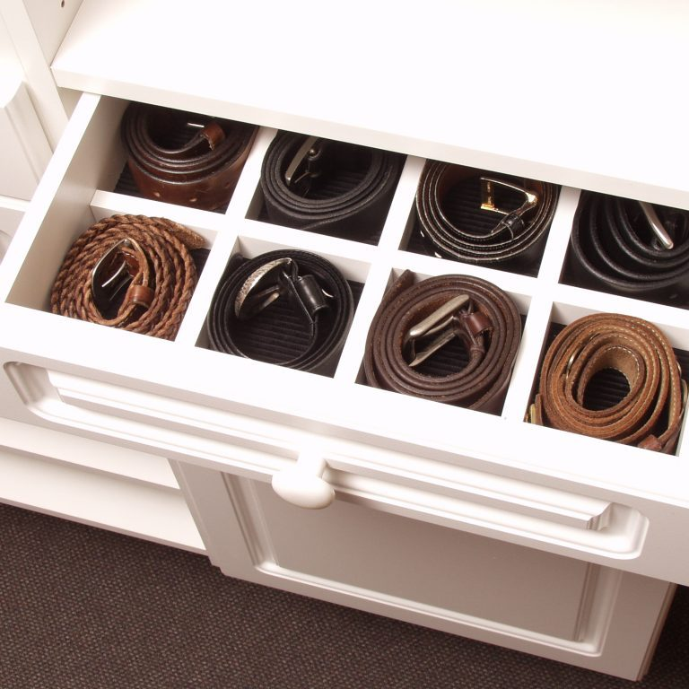 belt drawer with separators